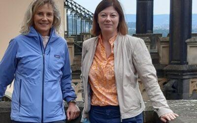 BUGA-Beauftragte Steingaß und Abgeordnete Köbberling: Schloss Stolzenfels kann ein Highlight der BUGA 2029 sein